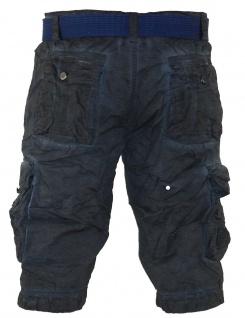 Herren kurze Hose Jeans lange Shorts Bermuda Cargo Caprihose mit Gürtel XH-22817 - Vorschau 2