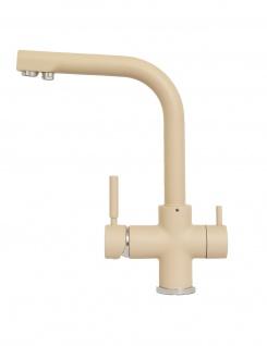 3 Wege Wasserhahn Wasserfilter für Osmose YM8816-2 beige matt