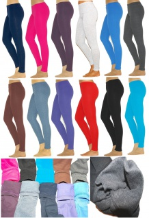 Kinder Thermo Mädchen Leggings leggins Hose lang aus Baumwolle Fleece Futter