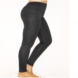 Damen Herren Leggings Leggins lang blickdicht Baumwolle Hose Wäsche Übergröße - Vorschau 2