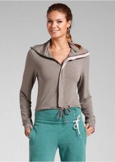 BPC Damen Shirtjacke Sweatjacke Jacke Shirt taupe Gr. 44/46 952104