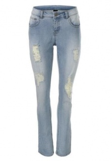 B.C. Damen Boyfriend Jeans Hose Chino Stretch blue stone Gr. 38 107715