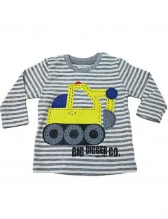 Posten 100 Stück Langarm Streifen Pullover Sweat Shirt Pulli Bagger Digger-5