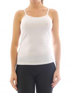 Damen Unterhemd Spaghetti-Top Spaghettiträger Rundhals Shirt T-Shirt Basic F920