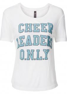 Rainbow Damen Shirt T-Shirt Aufdruck Kurzarm Top Tunika wollweiss 919561