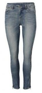 B.C. Damen Röhrenjeans Hose Jeans Röhre Stretch blue denim Gr. 34 179083