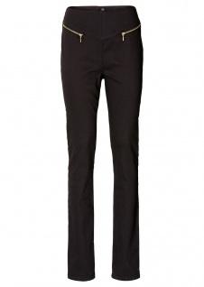 Rainbow Damen Hose Röhre hoher Bund Jeans Chino Stretch schwarz Gr. 36 913689