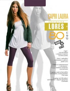 Leggings Leggins Capri 3/4 Laura 80den Microfaser Mikrofaser Hose Schwarz