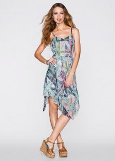 Rainbow Träger Kleid Zipfelig Chiffon Trägerkleid Ethno Muster Gr. 36 960513