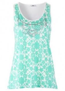 BPC Damen Top Tank Shirt Tunika Bluse T-Shirt Blumen Menthol 926459