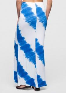 Bodyflirt Damen Batik Shirtrock lang Rock Skirt ecrú azurblau Gr. 32/34 904744 - Vorschau 2