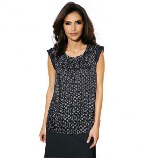 Class Damen Blusentop Top Bluse Tunika Shirt T-Shirt ärmellos schwarz 174325