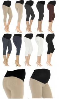 Umstand Capri 3/4 Leggings Leggins Baumwolle ohne oder mit Taschen Hosen kurz