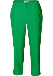 Sheego Damen Stretch Hose 7/8 Stretchhose Gummibund Chinos grün 210305