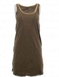 Chillytime Shirtkleid Kleid Shirt Jerseykleid Goldrand khaki gold 795930