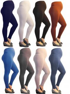Schwanger Umstand Umstandsleggings Leggings lang oder capri Baumwolle über Bauch