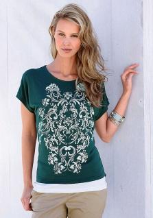 Boysen's Shirt Tunika Bluse Top Blumen Muster Ornamentdruck Petrol 738028