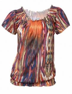 Rick Cardona Damen Carmenshirt Shirt kurzarm Bluse Tunika bunt 145473