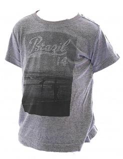 Kinder T-Shirt Kurzarm Shirt bedruckt Brasil Tank Top Jungen FL-MT-101