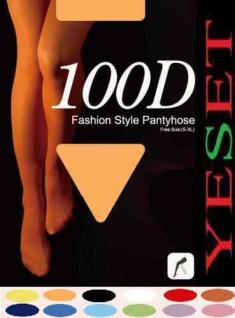 Strumpfhose matt Figurformend 100 DEN 100den beige S XL