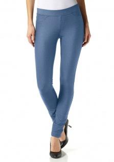 db842922f7de20 AJC Damen Leggings Jeggings Jeans-Look Hose Röhre Stretch blau Gr. 36 254835