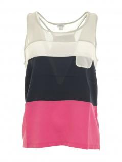 Heine Damen Blusentop Shirt ärmellos Top Tanktop bunt Gr. 40 022299