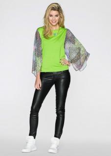 Rainbow Shirt mit Chiffon-Ärmeln Stretch T-Shirt Tunika Top Bluse Hemd 967506
