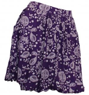 Ballonrock Rock Mini Minirock Paisley Muster Stretch Skirt lila 859099