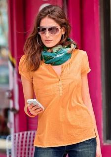 Aniston Tunika Longbluse Shirt Bluse T-Shirt Top Kurzarm Baumwolle 227966
