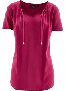 BPC Damen Tunika kurzarm Bluse Shirt beerenrot Gr. 34 951219
