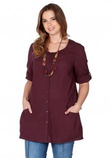 Sheego Damen Hemd Bluse Tunika Shirt dunkelrot 365075