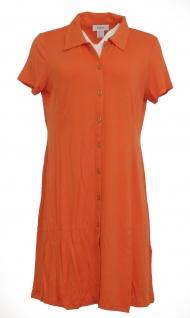 Heine Polokleid Kleid Polo Hemd Tunika kurzarm knielang orange 005860 - Vorschau 4