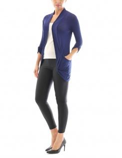Kardigan Poncho Jacket Jacke lang Tunika Mantel Blouse Top Shirt Cardigan