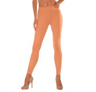 Buffalo Damen Jeggings Jeans-Leggings Leggins lang Hose Röre Orange 668630