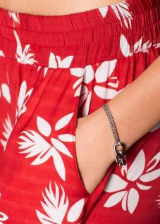 Rainbow Damen Bermuda Shorts kurze Hose Blumen-Muster rot 912931 - Vorschau 4