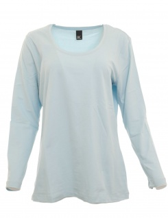 B.C. Damen Shirt langarm Bluse Tunika Pullover hellblau 46 015230