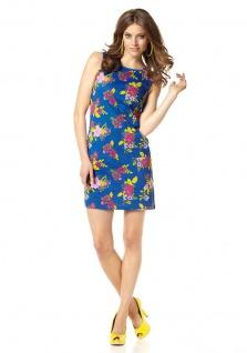 Chillytime Topkleid Kleid Minikleid Blumen-Muster Mini ärmellos Gr. 32 217458