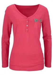 Cheer Damen Langarmshirt Shirt langarm Pullover rot Gr. 38 613107