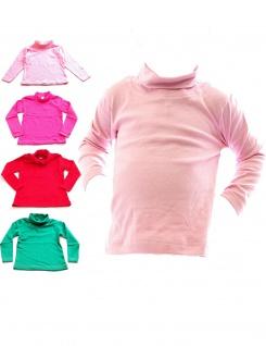 Posten 100 Stück Baby Kinder Mädchen Pullover Shirt Langarm Rollkragen