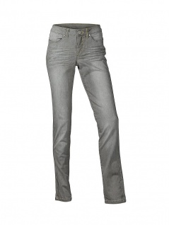 B.C. Damen Röhrenjeans Hose Jeans Stretch Chino Grey Denim Gr. 34 101286