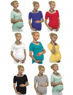 "Umstand Shirt kurzarm T-Shirt Bluse Tunika Top Bauch Stretch "" Sonia"" Schwanger"