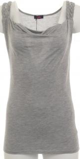 Buffalo Damen Wasserfall-Top Tank Tanktop Shirt Tunika ärmellos grau 251973