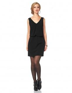 Vivance Damen Cocktailkleid Kleid Trägerkleid ärmellos schwarz Gr. 38 791217