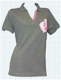 Joe Browns Damen Poloshirt Shirt Kurzarm Bluse Tunika grau melange Gr. 44 392382