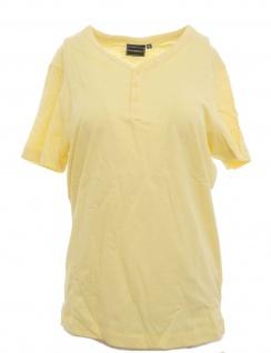 Rainbow Herren Shirt Slim Fit T-Shirt Top Kurzarm Gr. 44/46 Hellgelb 952594