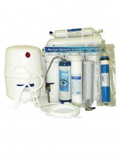 5 Stufen System UMKEHROSMOSE ANLAGE WASSERFILTER Osmose Filter Wasserhahn