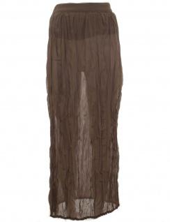 Laura Scott Damen Rock Chiffon Maxirock Maxi Skirt Polyester braun 687532