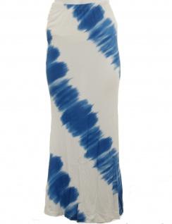 Bodyflirt Damen Batik Shirtrock lang Rock Skirt ecrú azurblau Gr. 32/34 904744