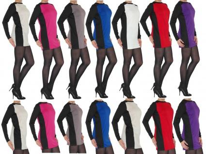 Kleid Tunika Mini Minikleid Langarm Longshirt Shirt Top Longtop