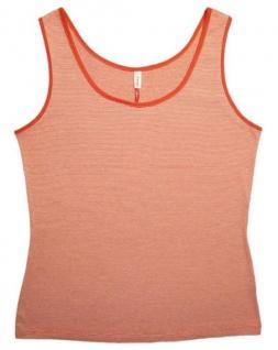 Sheego Damen Top Tank Shirt Streifen Bluse Tunika Rot Weiß gestreift 52 783915